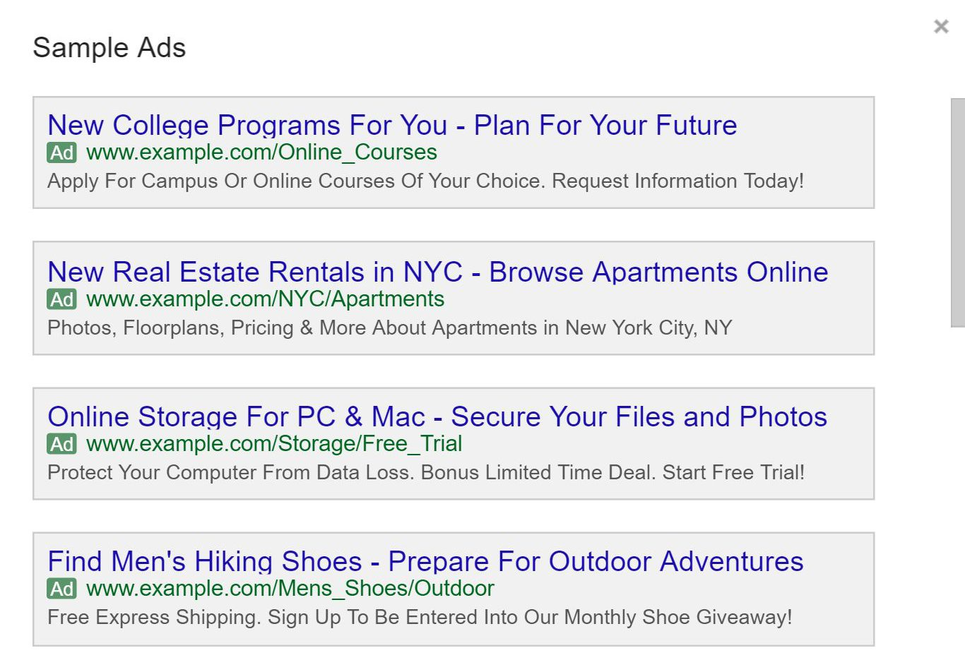 adwords-sample-ads-preview.