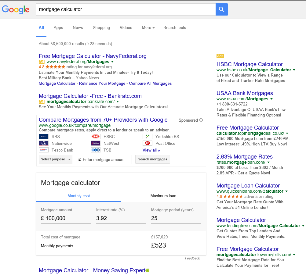 google-serp-mortgage-calculator-uk-compare.